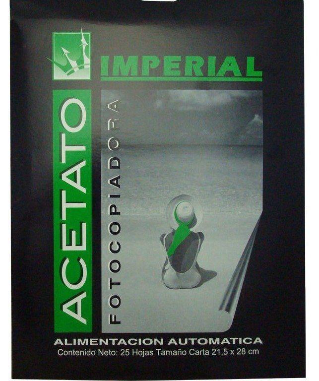 ACETATO FOTOCOPIADORA IMPERIAL 25 HOJAS