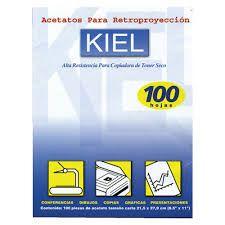 ACETATO KIEL 100 HOJAS IMPRECION EN SECO
