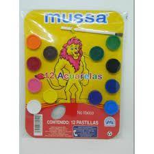 ACUARELA MUSSA C/ 12 PASTILLAS