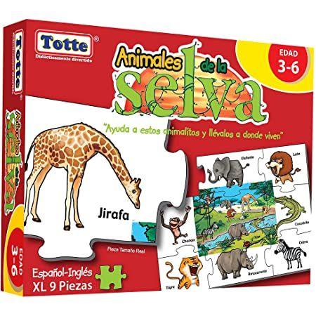 ANIMALES DE LA SELVA TOTTE ESPAÑOL INGLES