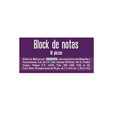 BLOCK APUNTES MAYCO