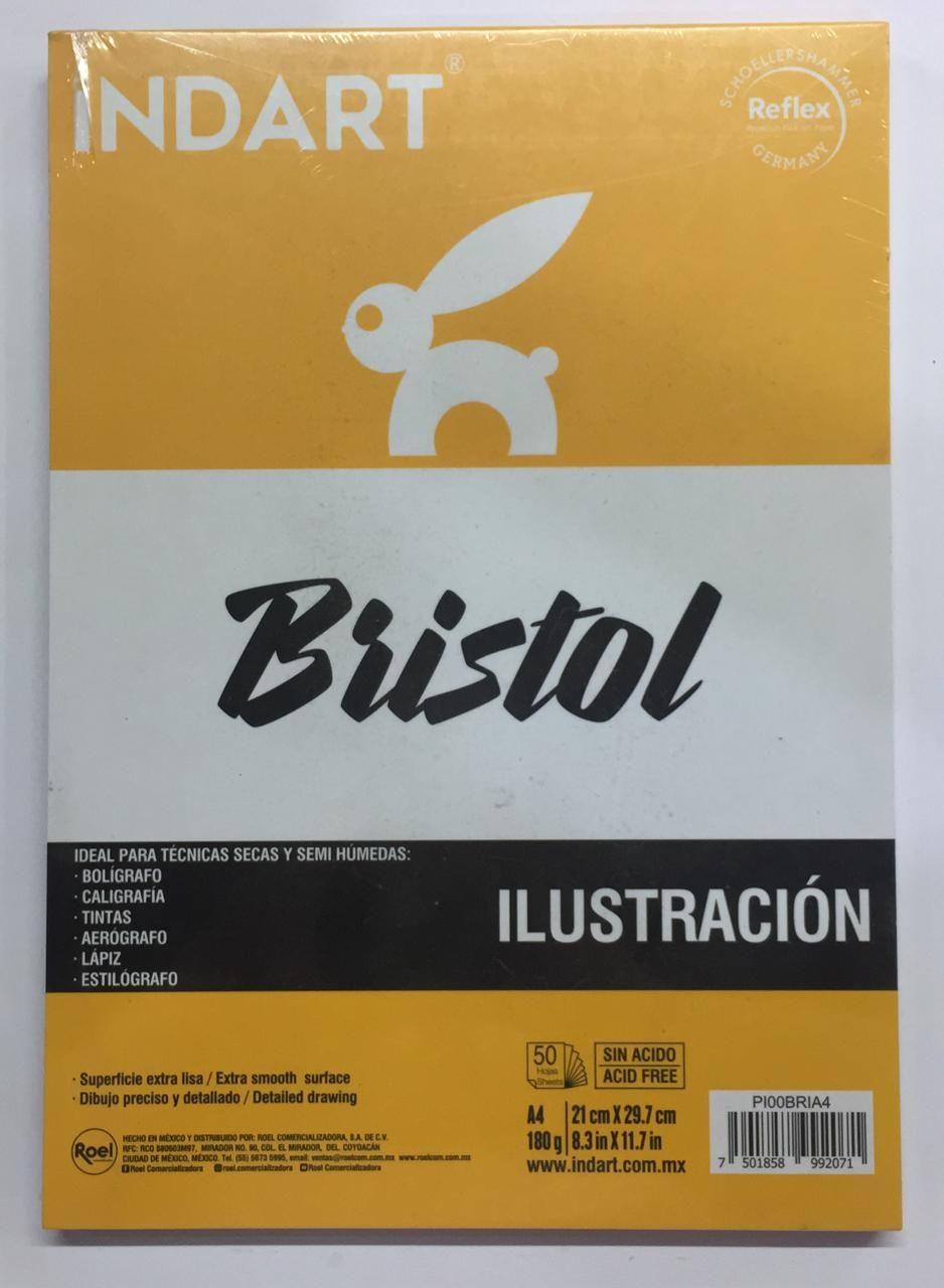 BLOCK INDART BRISTOL 21X29.7 CMS180 G 50 H