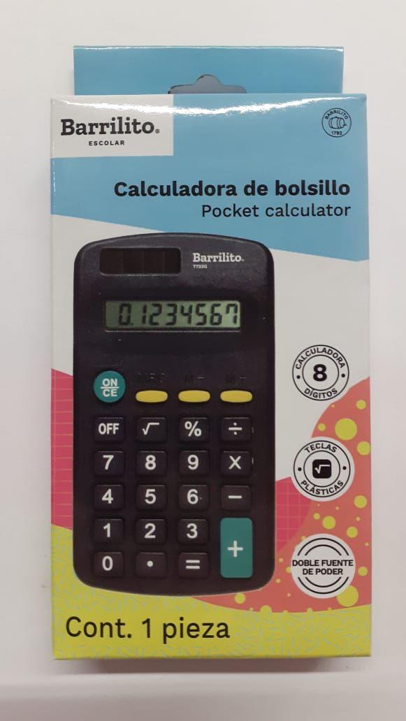 CALCULADORA DE BOLSILLO BARRILITO
