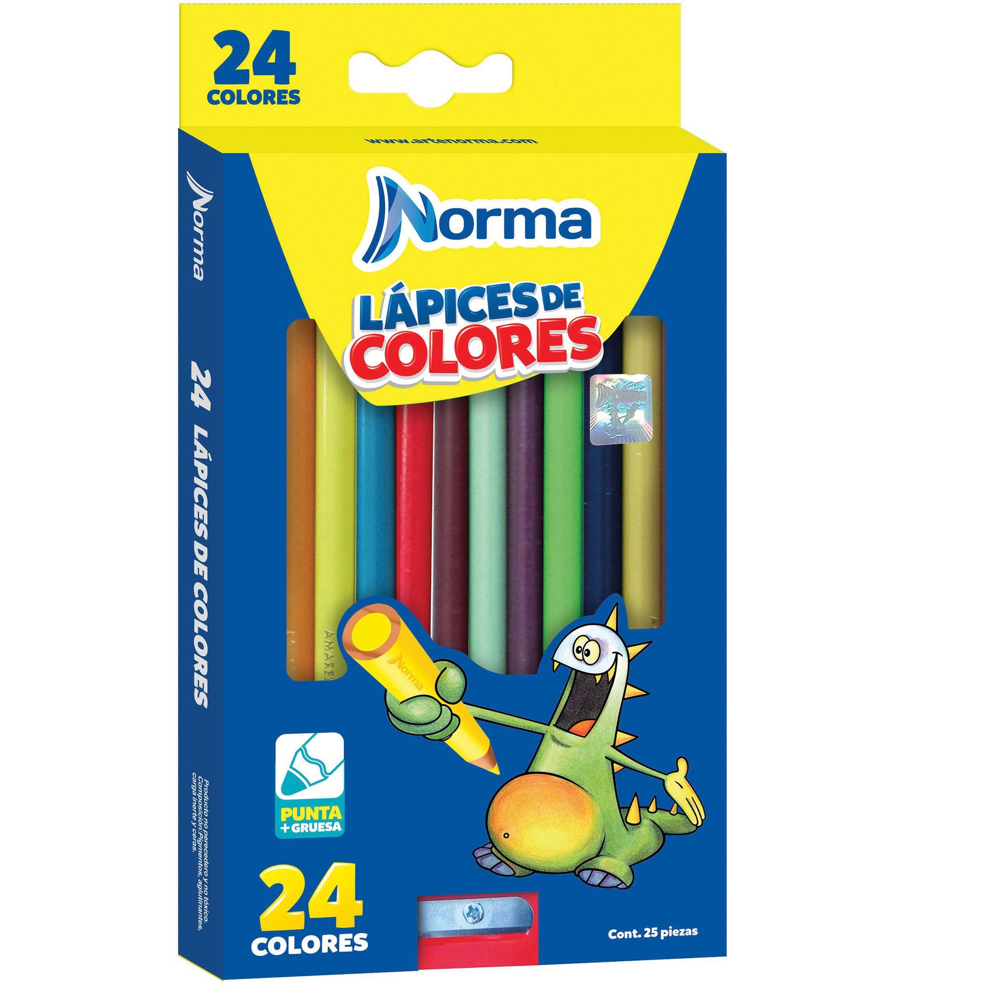 COLORES NORMA LARGOS 24 PZAS.