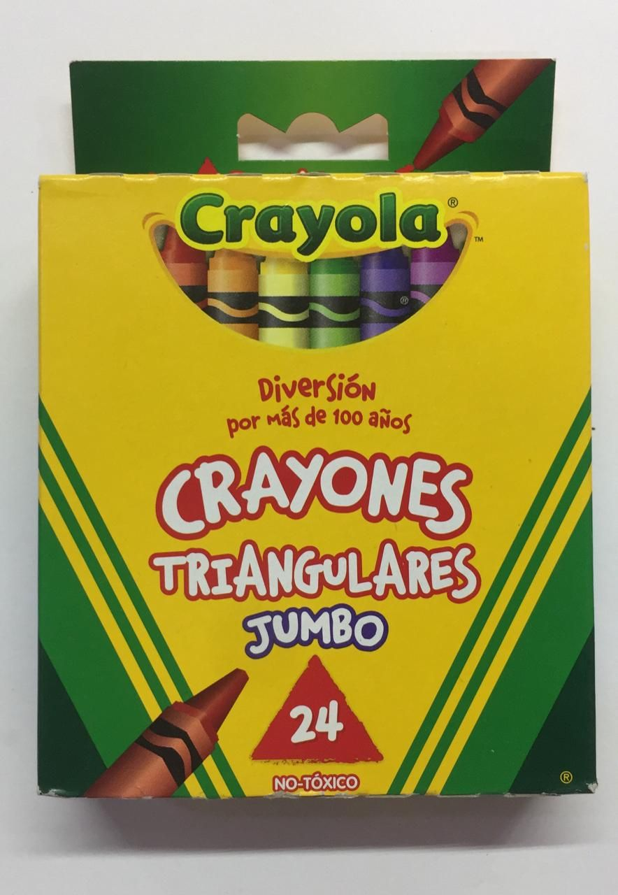 CRAYONES TRIANGULAR JUMBO 24 PZAS.