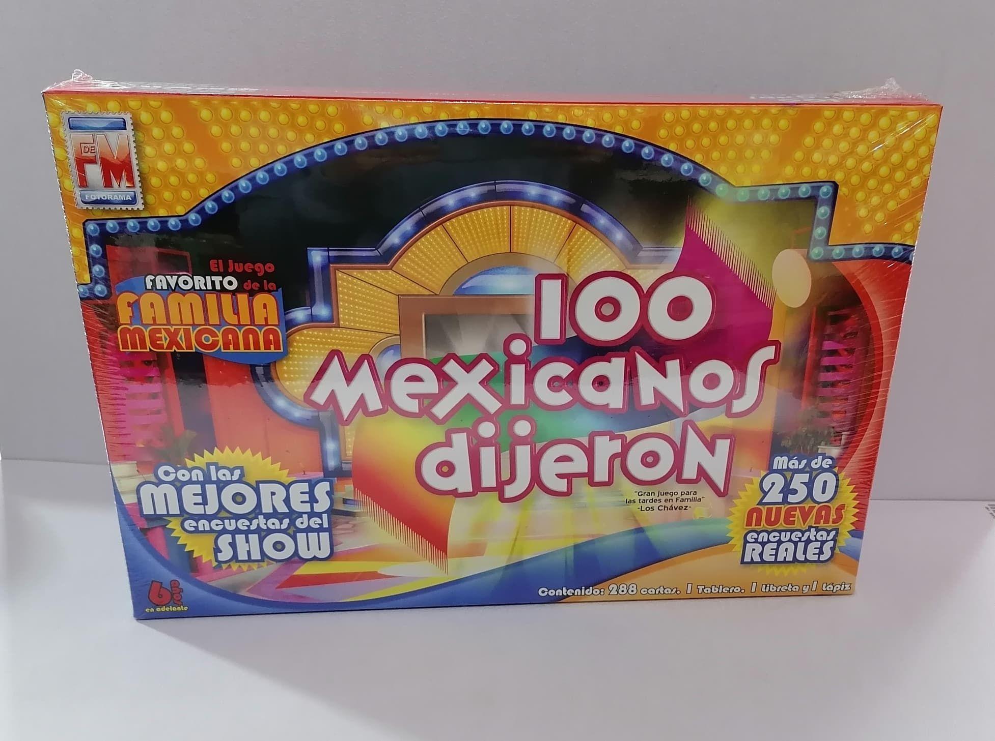 JUEGO DE MESA CIEN MEXICANOS DIJERON