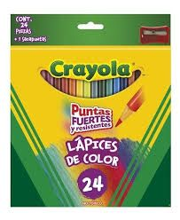 LAPICES DE COLOR CRAYOLA 24 P Y SACAPU
