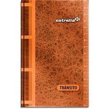 LIBRETA DE TRANSITO ESTRELLAC/96 HOJAS