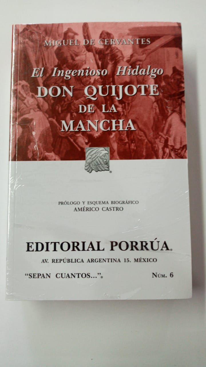 LIBRO DON QUIJOTE DE LA MANCHA MIGUEL DE CERVANTES