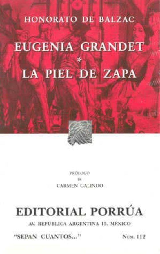 LIBRO EUGENIA GRANDET  PIEL DE ZAPA HONORATO DE BALZAC