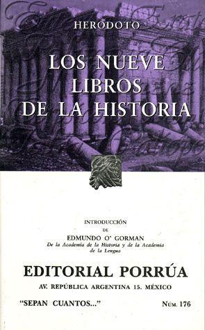 LIBRO LOS NUEVE LIBROS DE LA HISTORIA HERODOTO