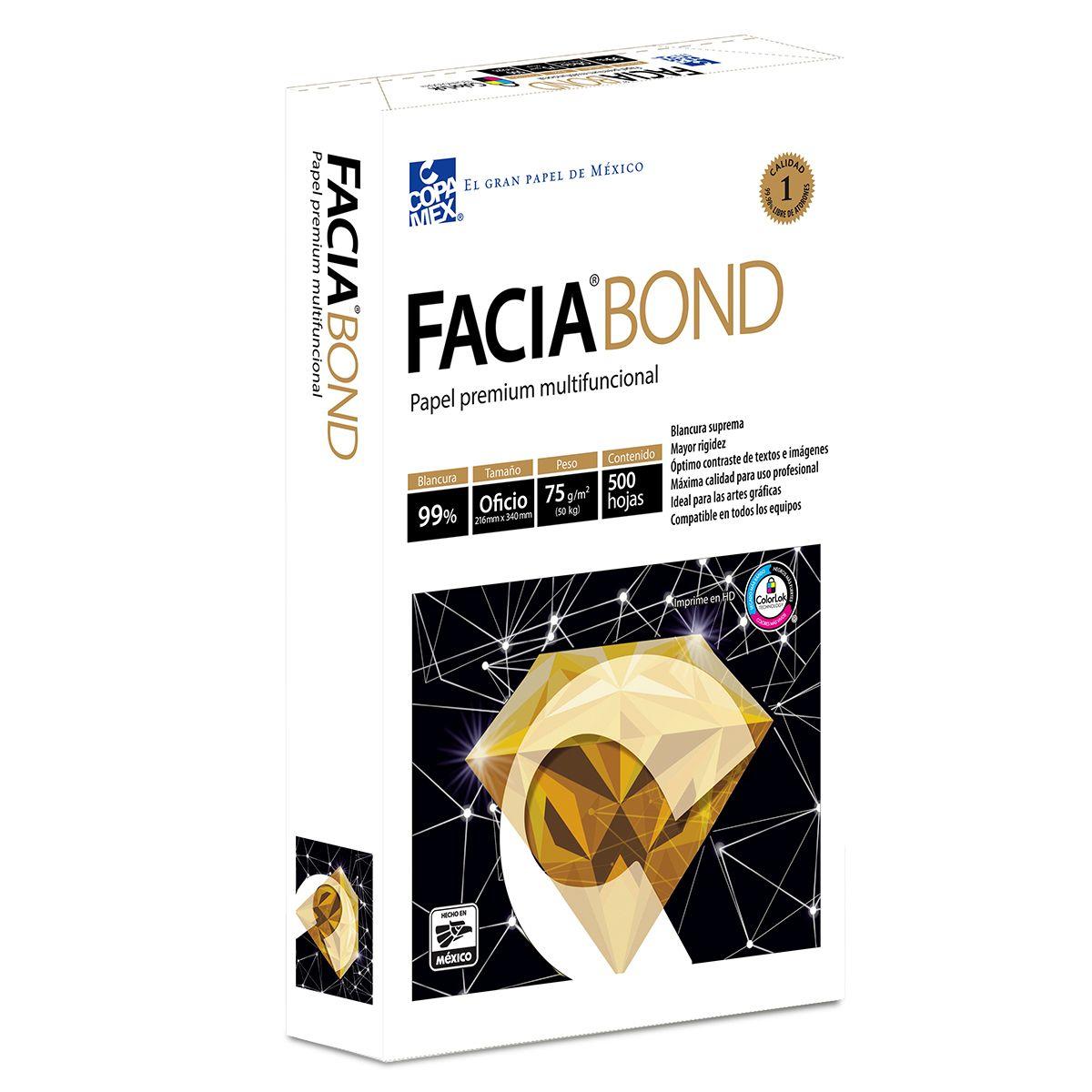 PAPEL FACIA BOND T/OFICIO PAQ.500 HOJAS