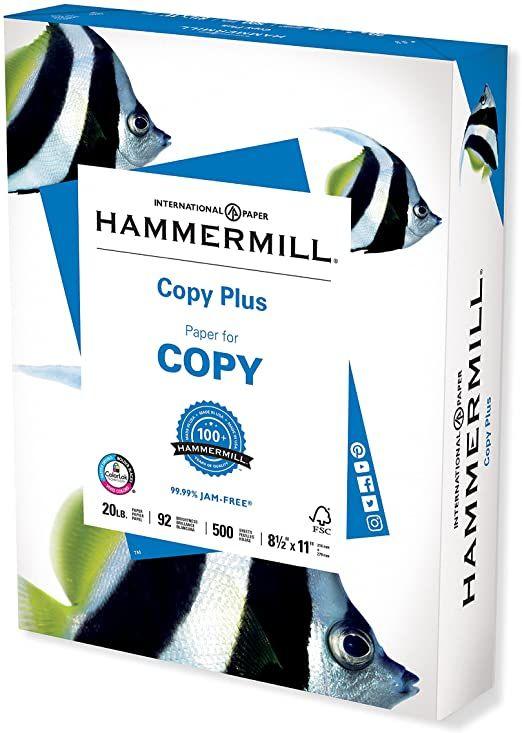 PAPEL HAMMERMILL PAQ. C 500 HOJAS 125 GRS.