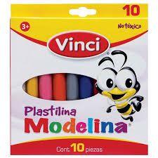 PLASTILINA MODELINA VINCI 10 COLORES