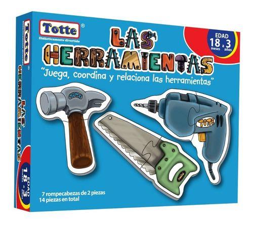 ROMPECABEZAS TOTTE LAS HERRAMIENTAS 7 ROMPECABEZAS 14 PZAS.